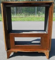 Georgian Style Serpentine Front Mahogany Television Cabinet